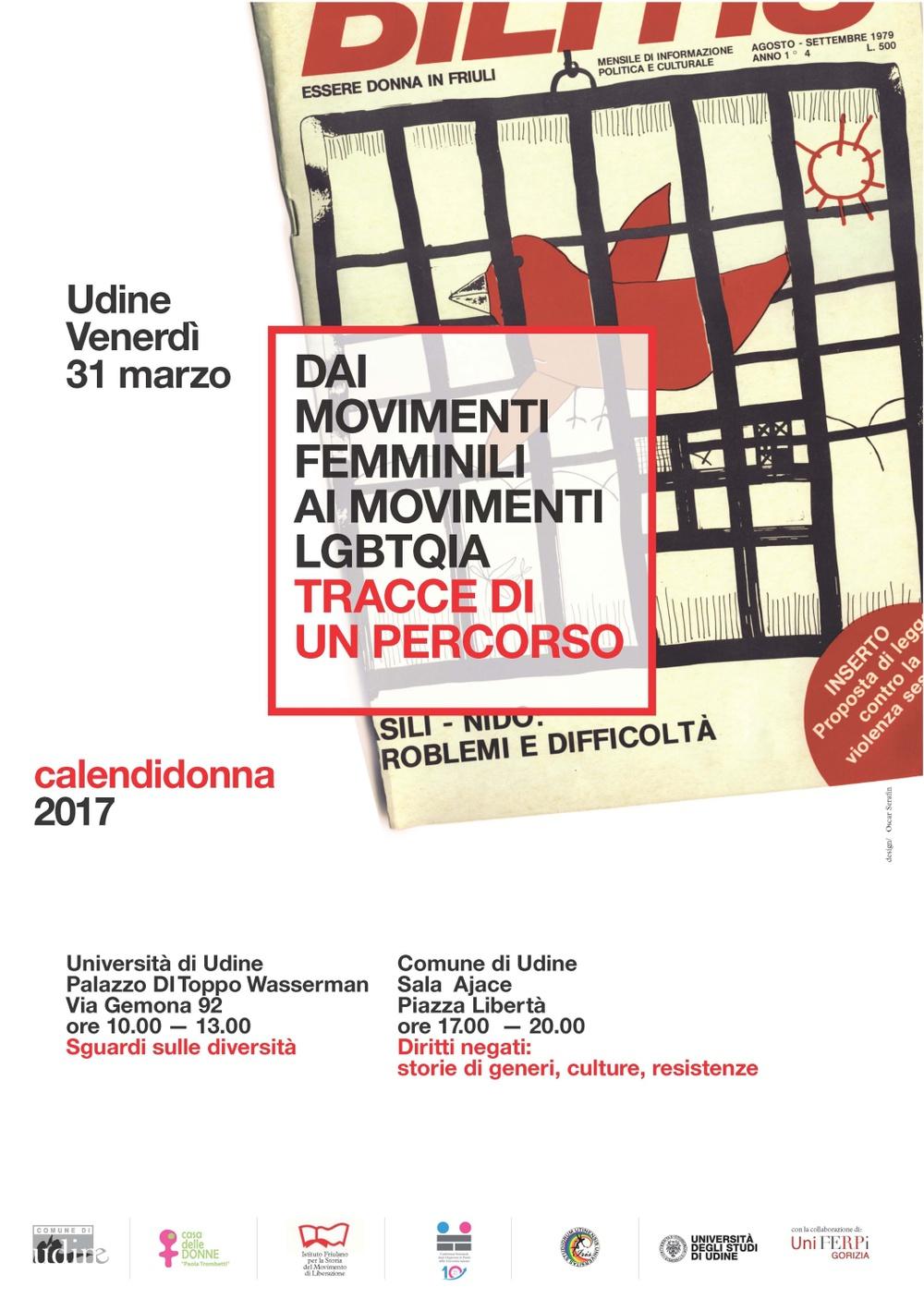 Calendidonna 2017 dai movimenti femminili ai movimenti for Casa moderna udine 2017 orari